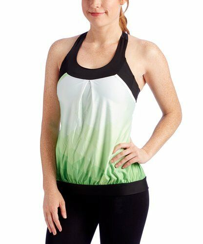 MOXIE Cycling Green Summit Layered Jersey Athletic Tank Top