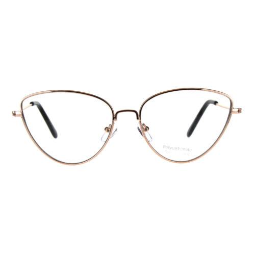 Womens Metal Rim Cat Eye Clear Lens Fashion Eye Glasses