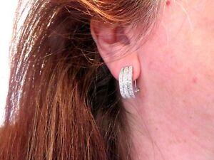 10k-WG-1-44-TCW-Baguette-amp-Round-Diamond-Hoop-Earrings