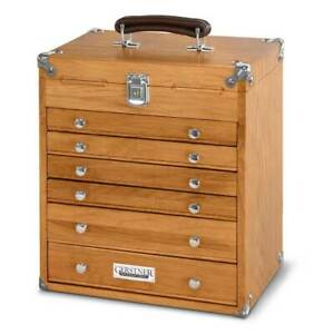 Gerstner-International-GI-T16-Oak-6-Drawer-Mighty-Mini-Chest-NEW-ITEM-FREE-SHIP