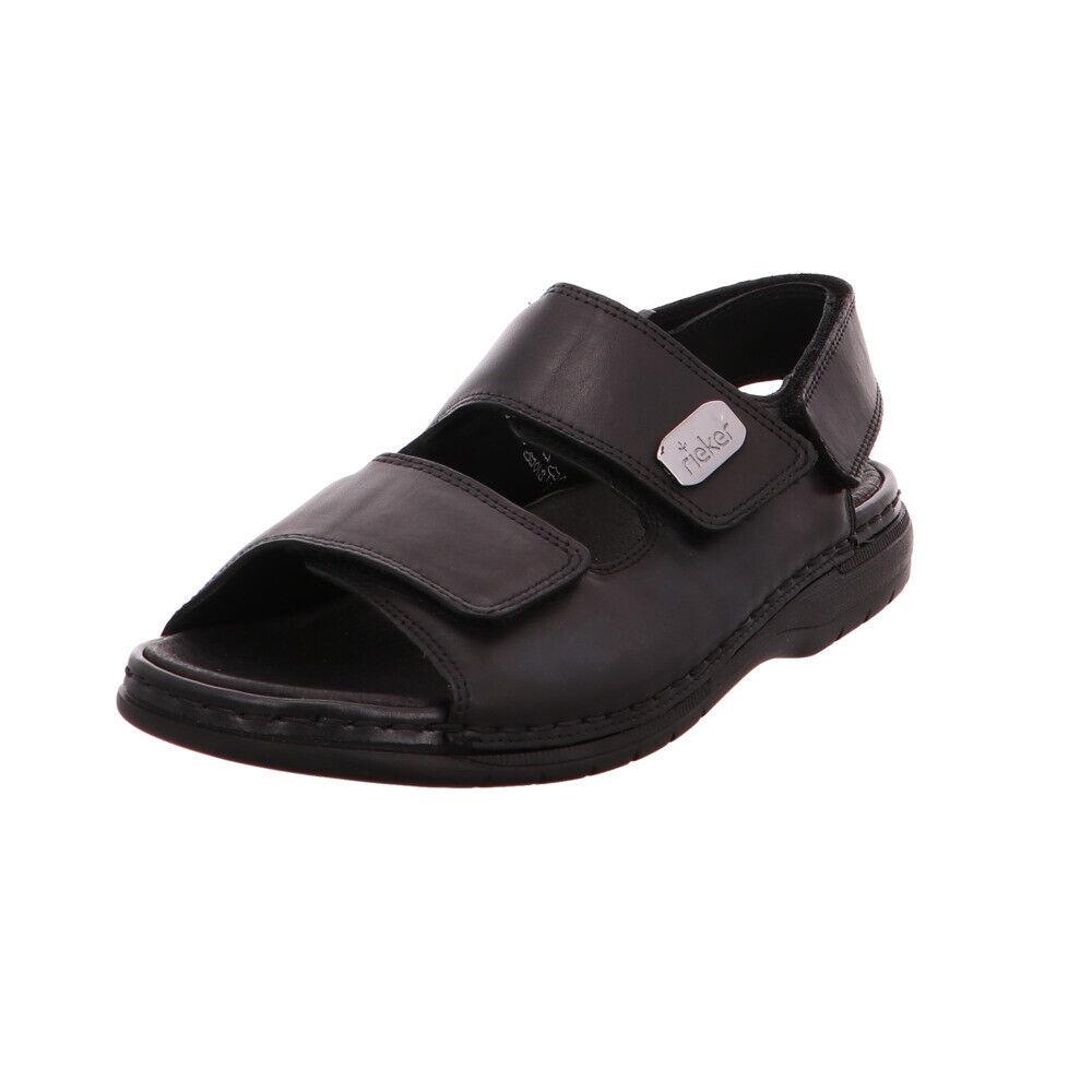 RIEKER Herren Sandale LEDER schwarz FUSSBETT 3x Klett   eBay