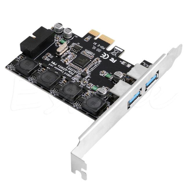 2 Ports USB3.0 +USB Header 19pin PCI-e Card Adapter PCI Express to 20Pin