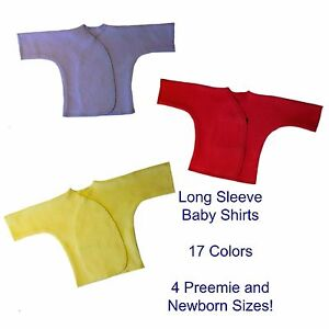 3d3279ce4 Unisex Baby Long Sleeve T-Shirts - 17 Colors - 4 Preemie and Newborn ...
