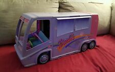 Barbie Glam & Jam Concert Tour Bus RV Disco Tiered Stage Purple 2001 WORKS!