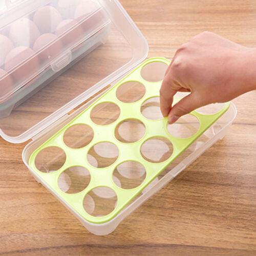 Eierbehälter 10//15 Eier Eierträger Eierbox Picknick Aufbewahrung Dose Camping