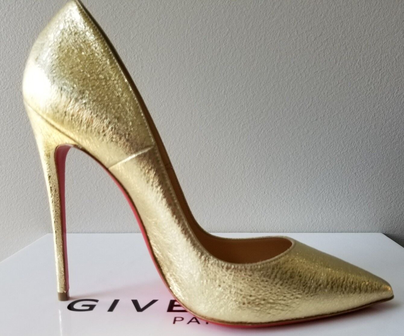 CHRISTIAN LOUBOUTIN SO KATE 120 Gold AMAZING AMAZING AMAZING PUMPS EU 38 I LOVE schuhe 83a17a