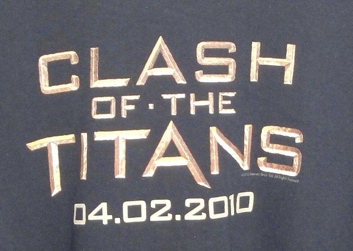 CLASH OF THE TITANS 04-02-2010 T-SHIRT Mens XL BL… - image 2