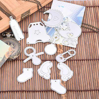 12x Baby Set Cutter Cutting Dies Stencil Scrapbooking Cards Embossing DIY New