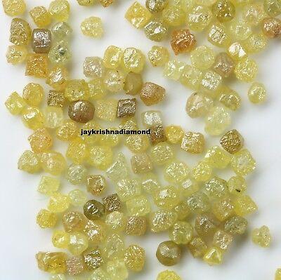 100/% NATURAL Loose Rough Diamonds Fancy Yellow FL-SI 1.00mm uncut real 5crts Lot