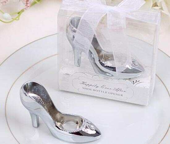 Wedding Bomboniere & Favours - Bottle Opener - Chrome High Heel x 100