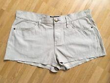 Orig. CURRENT ELLIOTT Leder Short Jeans beige Safari Gr.28 NEU NP 649€