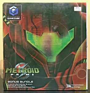 Metroid-Prime-Bonus-Bundle-Set-GameCube-System-Sealed-Game-amp-New-Console-L-K