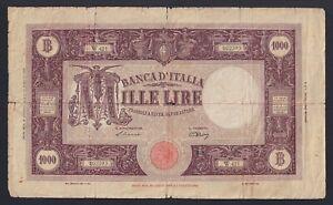 """HonnêTeté Italia - 1.000 Lire Grande """"m"""" (b.i.) 8.1.1946 Mb/f A-08"""