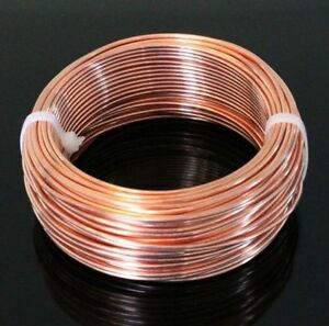 Coil Genuine Solid bare Copper  Modern find 10 Ga Copper Wire Round Soft 10 Ft