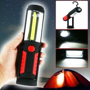 1000lm COB-LED Stab Leuchte KFZ Arbeit Werkstatt Taschen Lampe Akku Magnet DHL
