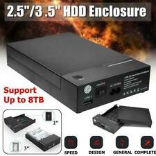 2,5 / 3,5 Zoll SATA USB 3.0 Externes Festplattengehäuse Caddy Disk Case HDD X7Z9