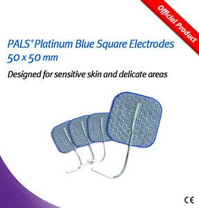 PALS Platinum Blue Square Electrodes 50x50mm - for Sensitive Skin pk4 5060079210774