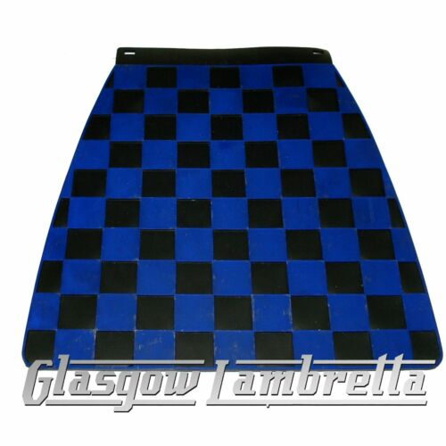 Lambretta CHEQUERED NAVY // BLACK MOULDED SCOOTER MUDFLAP Hard Type GP SX etc