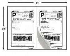 200 Shipping Labels Paypal Click Ship Fedex Self Adhesive Laser Inkjet Printer