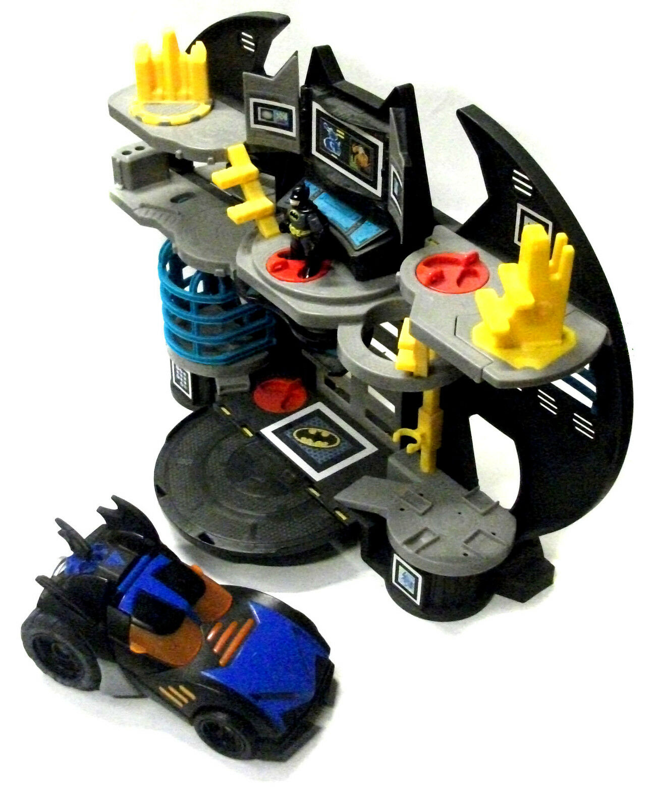 Fisher Price BATMAN IMAGINEXT Bat Cave, Deluxe Batmobile Car & Figure set lot