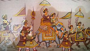 Antiguo Mughal India Persa Original Pintura Al Temple Imagen En