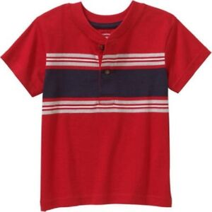 0b18c00be Image is loading Garanimals-Toddler-Boy-Short-Sleeve-Striped-Henley-Tee-