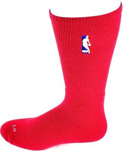 ef7de64b1dc Image is loading NBA-Crew-Socks-Red-with-Red-White-and-
