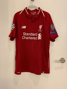 "first rate 10c78 bcedd Details about Liverpool Champions League ""Lovren"" New Balance Jersey. Size  Large."