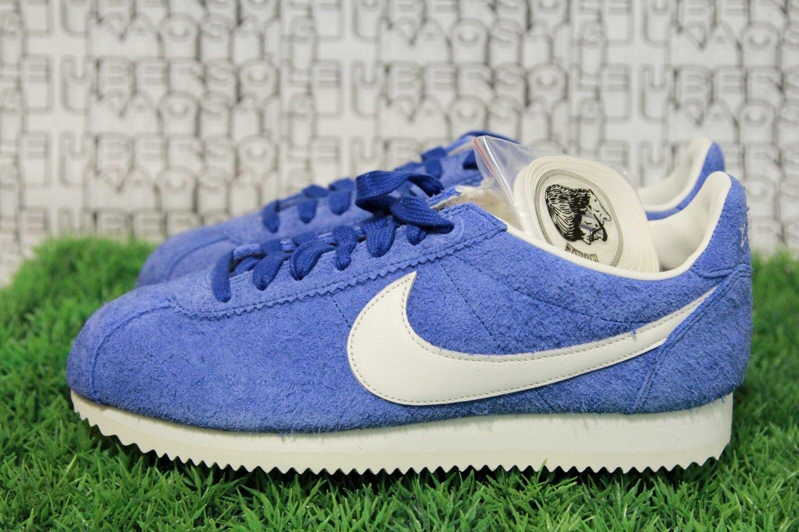 Nike Classic Cortez KM QS blueee Suede PRM White og 943088 400 MEN 8,Women 9.5