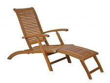 poltrona sdraio poggiapiedi reclinabile legno massello acacia esterno giardino