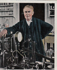 N°226 Thomas Edison inventor Phonograph gramophone electric USA IMAGE CARD 30s