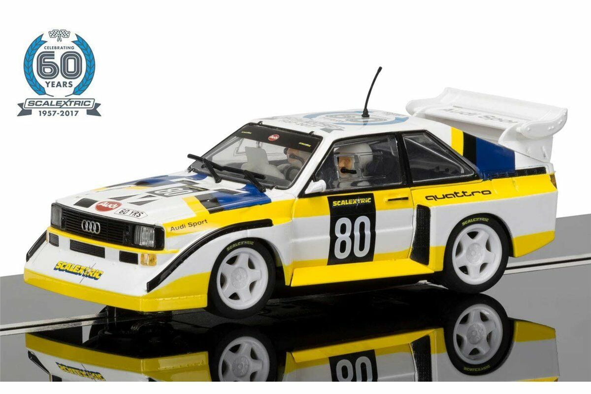 Scalextric C3828A 60th Anniversary Collection 1980s Audi Sport quattro S1 E2