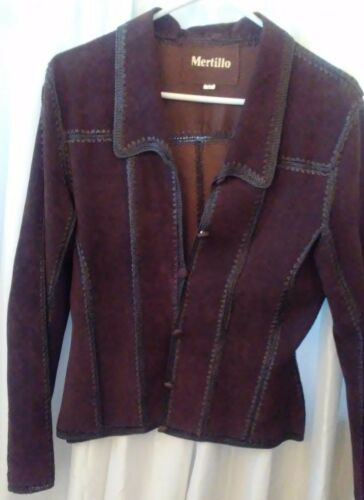 Mertillo Lightweight Great slidt Condition Suede L Sjældent Size Jacket vqrp4Raq
