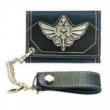 NINTENDO'S THE LEGEND OF ZELDA METAL TRIFORCE WALLET WITH METAL CHAIN *BRAND NEW