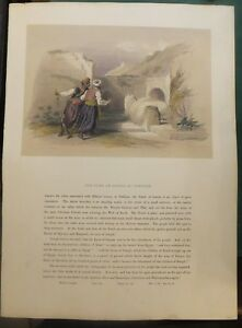 """the Tomb Of Joseph At Shechem"" à Nablus, Egypte, Lithographie, D. Roberts, 1844 Luxuriant In Design"