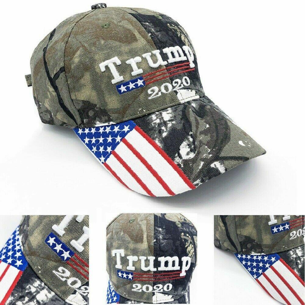 353d8da86 PRESIDENT DONALD TRUMP 2020 Cap Camouflage USA Flag Baseball Cap Hat Make  Great