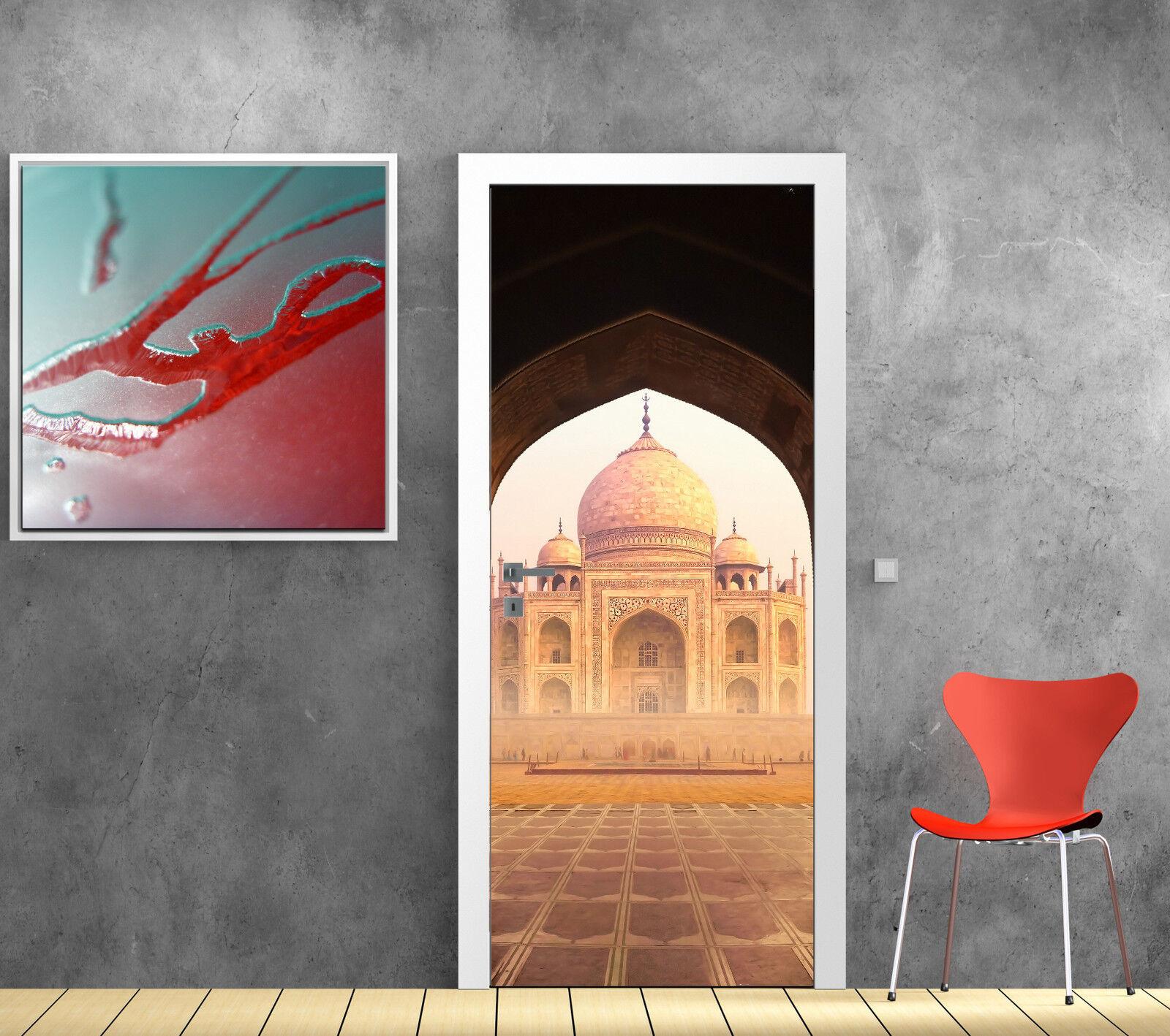 Aufkleber Tür Schein Auge Deko Palast Orientalisch Taj Mahal Ref 811
