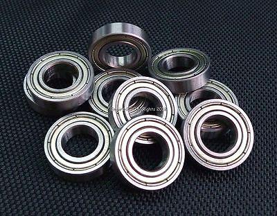 (4 PCS) 6001ZZ (12x28x8 mm) Double Metal Shielded Ball Bearing Bearings 6001z