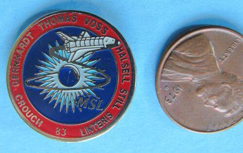 PIN enamel vtg NASA Space Shuttle COLUMBIA STS-83 Voss Thomas Crouch Linteris
