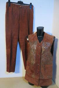 newest 6547f fa180 Details zu Robena Ledermoden ° Hosenanzug Leder Gr. 40 42 braun Damen  Kleidung Weste + Hose