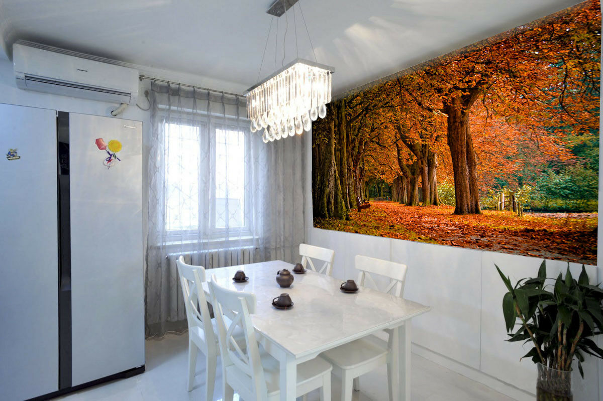 3D Goldener Waldweg 46 Tapete Tapeten Mauer Foto Familie Tapete Wandgemälde DE