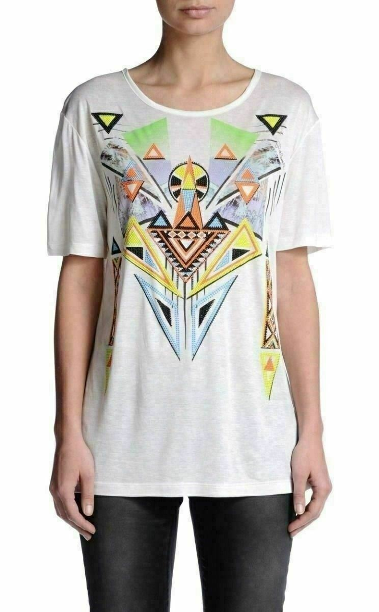 Just Cavalli women Multicolor Girocollo T-Shirt USA S It