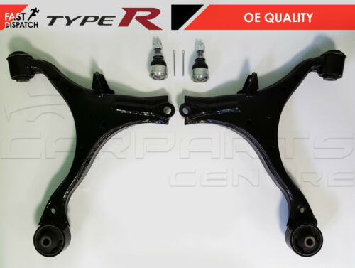 FOR HONDA CIVIC 2.0 TYPE R EP3 FRONT LOWER LEFT RIGHT WISHBONE ARMS BALL JOINTS