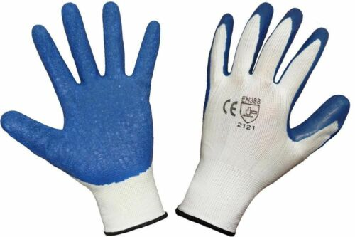 1-24 HAND PROTECTION QUALITY LATEX COATED CRINKLE BUILDERS WORK SAFETY GLOVES