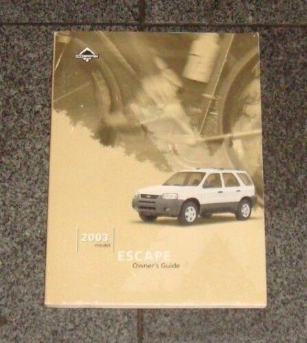 karaoke-jack.jp 2003 Ford Escape Owners Manual Vehicle Parts ...