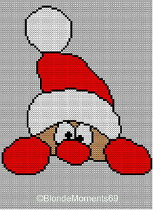 Simple Lace Knit Pattern : Father Christmas / Santa Jumper Sweater Knitting Pattern #17 Xmas Intarsia ...