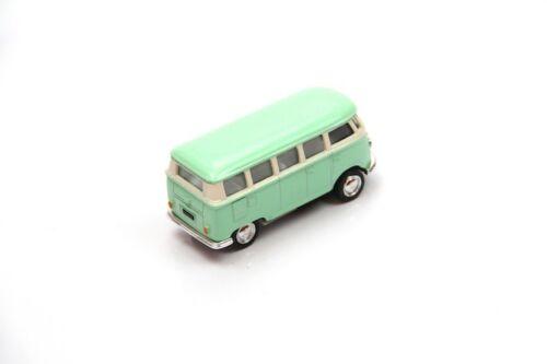 "2.5/"" Kinsmart 1962 VW Volkswagen Bus Diecast Model Toy Car 1:64 Pastel Green"