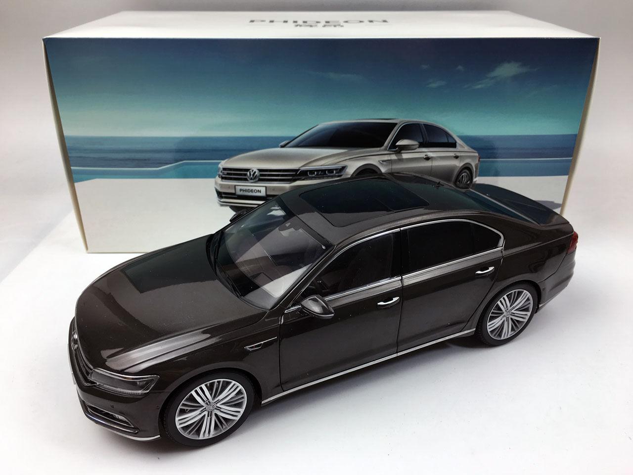 1 18 Volkswagen PHIDEON Marronee Diecast Metal modello auto