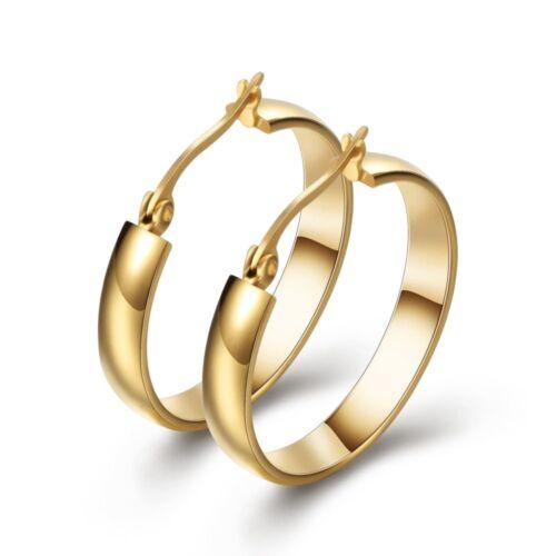 Edelstahl Ohrringe Silber Gold Creolen Weihnachten Geschenke für Sie Wife Damen
