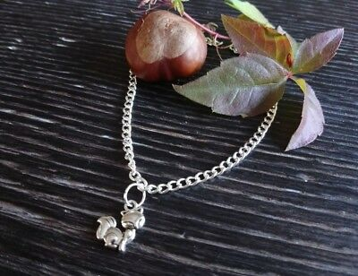 """body jewellery ankle bracelet Cute silver plated fox charm anklet 9-11/"""""""